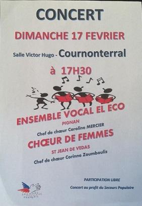 Affiche concert cournonterral 17fev19